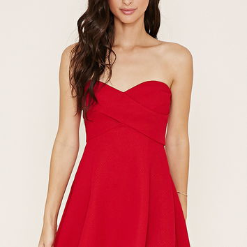 Textured Mini Skater Dress | Forever 21 - 2000152855