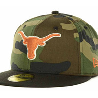 Texas Longhorns NCAA Woodland Camo 59FIFTY Cap
