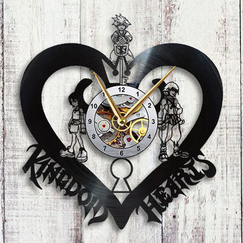 Kingdom Hearts Vinyl LP Record Wall Clock