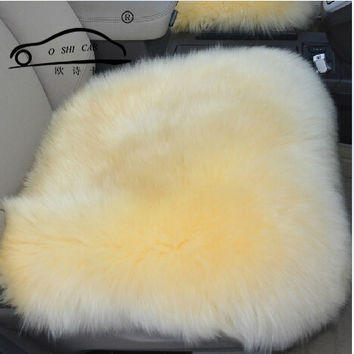 1 PCS Supply New winter Car Wool Cushion / Car Seat Cover Plush Seat Pad Wool Mat Used in Home and Office