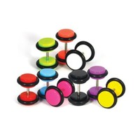 Lot of 8 Pieces Glow in The Dark Fake Plugs 16G