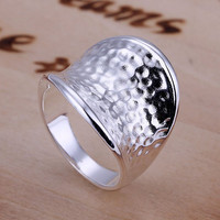 Fashionable Silver Plated Thumb Ring For Thumb