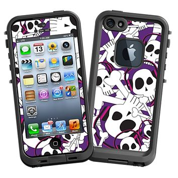 Skull Prince with Beats on Purple Skin  for the iPhone 5 Lifeproof Case by skinzy.com