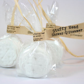 Stuffy Head Shower Steamers , Aromatherapy Shower, (6) All Natural Shower Steamer, Sinus RELIEF