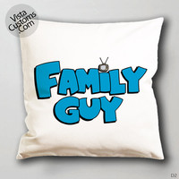 animated comedy Family Guy Logo Pillow Case, Chusion Cover ( 1 or 2 Side Print With Size 16, 18, 20, 26, 30, 36 inch )