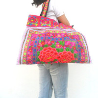 Tote bag Lady Ethnic Bag Embroidery Bag Hmong Bag Boho bag Bohemian Bag Handbag Shoulder Bag Hippie