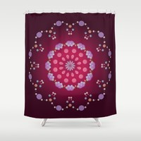 Little Purple Balls Shower Curtain by Lena Photo Art