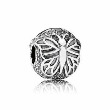Authentic Pandora Jewelry - Lacewing Butterfly Clip