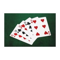 Poker Hands - Four Of A Kind - Tens and Six Gallery Wrap Canvas