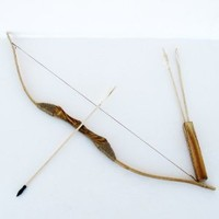 SGS Wooden Bow Set with 6 Arrows