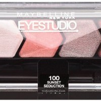 Maybelline New York Eye Studio Color Plush Silk Eyeshadow, Sunset Seduction 100, 0.09 Ounce