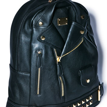 3AM Imports Moto Jacket Backpack Black One