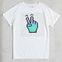 Peace Digits Tee- Ivory