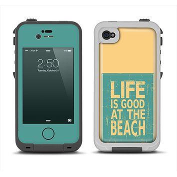 The Grungy Life Is Good At The Beach Apple iPhone 4-4s LifeProof Fre Case Skin Set
