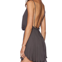 Indah Tahani Mini Dress in Slate