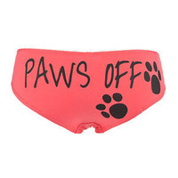 Candy Pink Paws Off Short Briefs