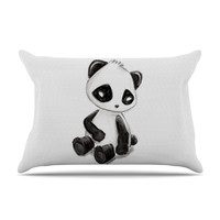 "Geordanna Cordero-Fields ""My Panda Sketch"" Black White Pillow Sham"