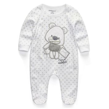 Baby Clothing 2017 New Newborn Baby Boy Girl Romper Clothes Long Sleeve Infant