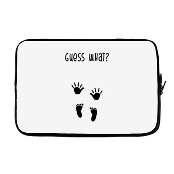 Guess What Baby Inside Pregnancy Announcement Laptop sleeve