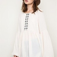 Bohemian Perfection Ivory Tunic