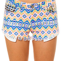 Reverse Shorts Neon Tribal