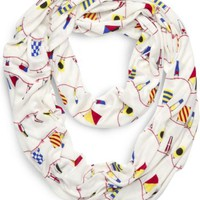 Sperry Top-Sider Nautical Flag Infinity Scarf NauticalFlagPrint, Size One Size  Women's