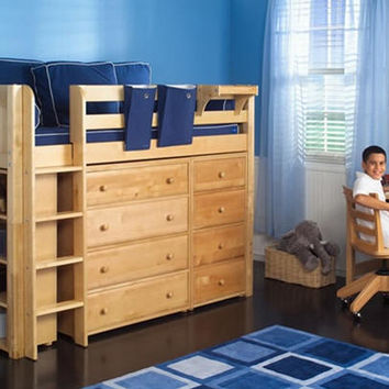 Marcus Twin Mid High Storage Loft Bed