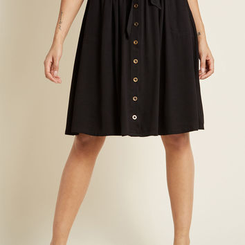 Dreamer and Doer A-Line Skirt in Black