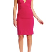 Low Neck Seamed Dress