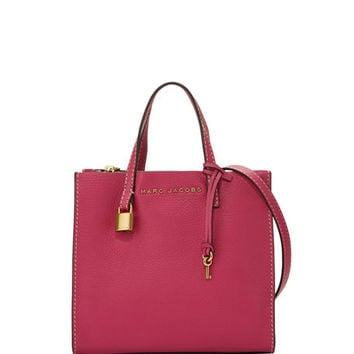 Marc Jacobs Grind Mini Pebbled Shopper Satchel Bag | Neiman Marcus