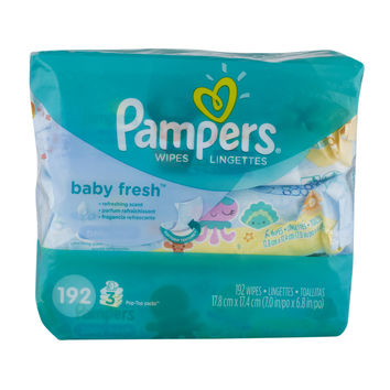 Pampers Baby Wipes Baby Fresh - 192 CT - Walmart.com