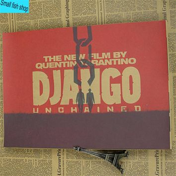 Quentin Tarantino Django Unchained Home Furnishing decoration Kraft Movie Poster Drawing core Wall stickers