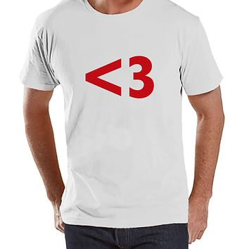 Men's Valentine Shirt - Mens s Day - White T-shirt