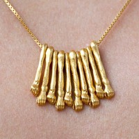 Gold hand necklace