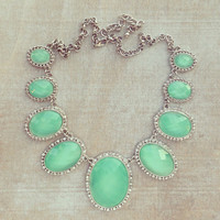 Pree Brulee - Silver Mint Alhambra Necklace