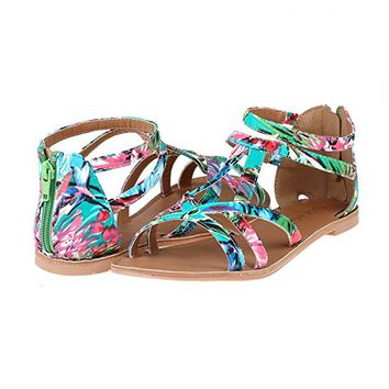Women's Summer Trendy Print Gladiator Flat Sandals