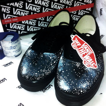 Blackout Galaxy Vans