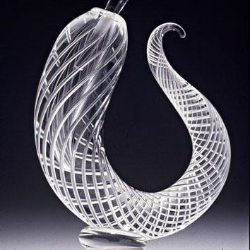 Sculptural Airtwist Perfume Bottle by Robert Burch: Art Glass Perfume Bottle | Artful Home
