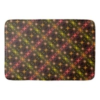 Colorful Blinking Lights Magical Pattern Bath Mat