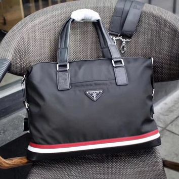 PRADA MEN'S NEW STYLE CLOTH BRIEFCASE BAG CROSS BODY BAG