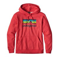 Patagonia Men's Line Logo Pullover Hoodie in French Red 39456-RED