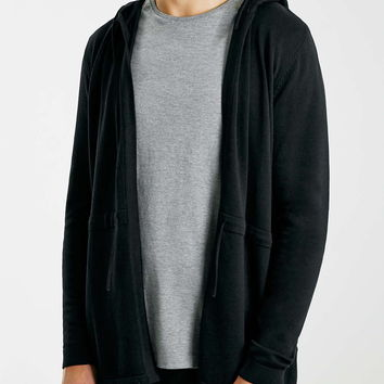 Black Knitted Parka - Men's Hoodies & Sweats - Clothing