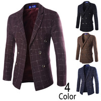 Double Breasted Men's Slim Fit Blazer