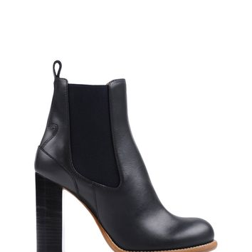 Chloé Bernie Ankle Boot - Black Leather Boots - ShopBAZAAR