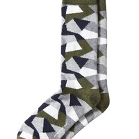 Banana Republic Camo Sock Size One Size - Seaweed