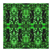 Egyptian Priests and Cobras in Green II C1 SDL Canvas Print