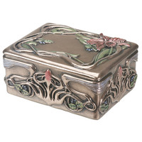 Arts and Crafts Orchid Trinket Box