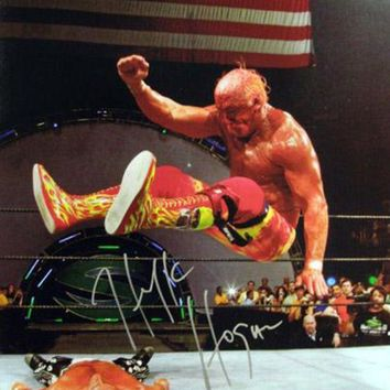 ONETOW Hulk Hogan Signed Autographed Glossy 16x20 Photo vs Shawn Michaels (ASI COA)