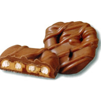 Milk Chocolate Peanut Butter Mini Pretzel Twists: 5LB Box
