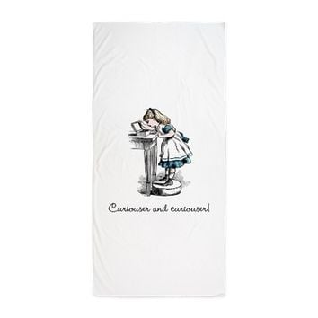 Alice in wonderland Beach Towel on CafePress.com